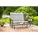 Hampton Bay Statesville Metal Patio Outdoor Double Glider