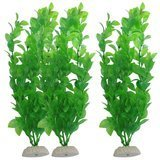 Uxcell Aquarium Green Plastic Artificial Plants