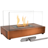 Sunnydaze Decor Copper El Fuego Ventless Tabletop Bio Ethanol Fireplace