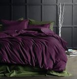 Eikei Solid Color Egyptian Cotton Bedding Set