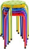 Norwood Commercial Furniture Plastic Stack Stools (Pack of 5)