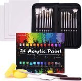 COOL BANK Acrylic Paint Set (48 Piece Painting Supplies)