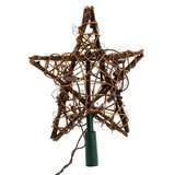 Kurt Adler 10-Light Rattan Tree Topper