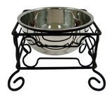 YML Wrought Iron Stand with Stainless Steel Bowl