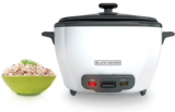BLACK + DECKER 28-Cup Rice Cooker