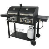 Blossomz Dual Fuel Combination Charcoal/Gas Grill