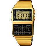 Casio Men's Gold Tone 25-Memory Calculator Databank Watch