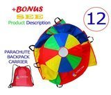 VOMLine 12' Play Parachute for Kids
