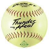 "Dudley 12"" Slow Pitch Leather Softball, 12-Pack"