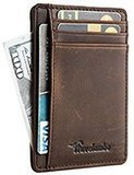 Travelambo Front Pocket Minimalist Leather Slim Wallet