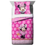 Disney Minnie Mouse Bigger Bow Twin Reversible Comforter & Sham Set