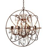 JinYuZe 6-Light Industrial Globe Cage Chandelier