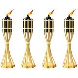 Kaya Collection 14-Inch Bamboo Table Torches – 8 Pack