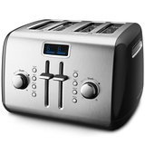 KitchenAid 4-Slice Toaster with Manual High-Lift Lever and Digital Display