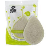 My Konjac Sponge All Natural Fiber French Green Clay Facial Sponge