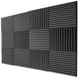 Mybecca 12 Pack- Acoustic Panels Studio Foam Wedges