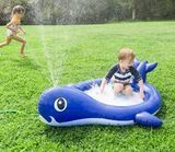 HearthSong Inflatable Whale Sprinkler Pool