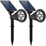 URPOWER 2-in-1 Waterproof 4 LED Solar Spotlight Adjustable Wall Light