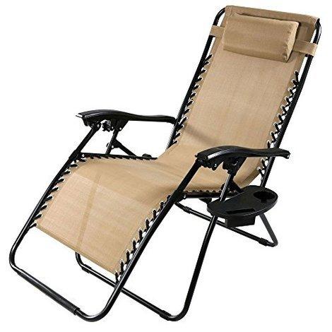 Khaki Oversized Zero Gravity Lounge Chair