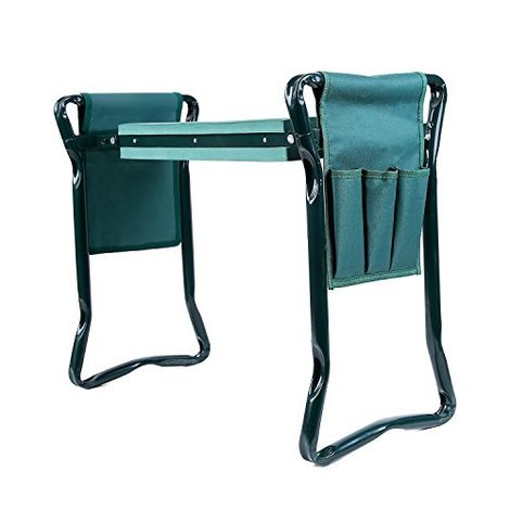 Garden Kneeler And Seat With 2 Bonus Tool Pouches